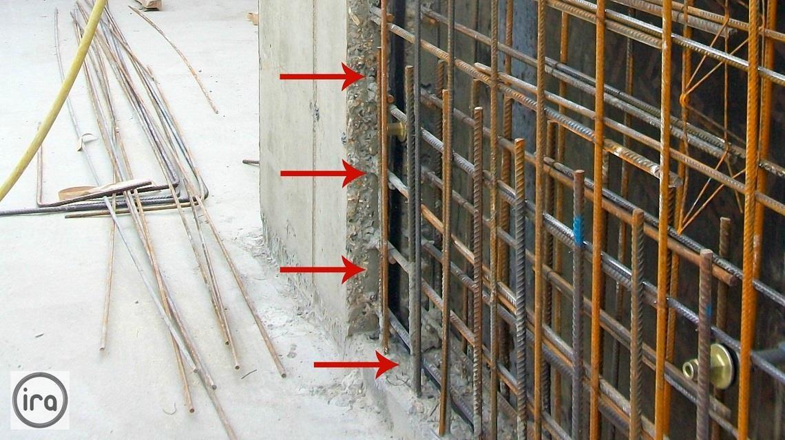 installation of hydrophilic bentonite strip