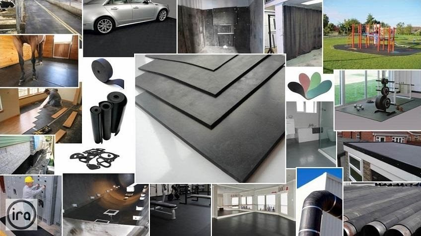 uses of rubber sheets